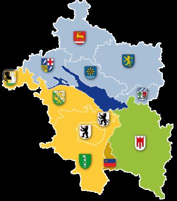 Landkarte der Senioren Plattform Mitglieder
